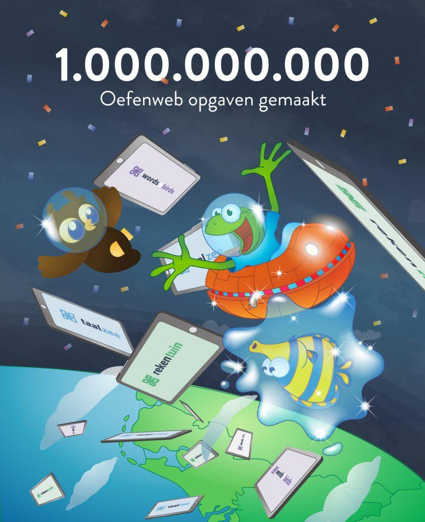 1 miljard Oefenweb opgaven gemaakt