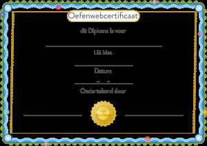 Oefenwebcertificaat of Oefenwebdiploma voor leerlingen